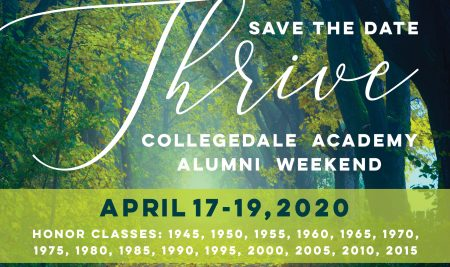 Collegedale Academy's Alumni Weekend is April 17-19, 2020