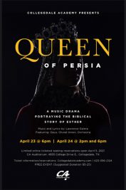 CA Presents Queen of Persia – We have postponed this event and have NEW dates!